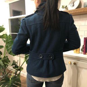 Navy blue shirt peacoat